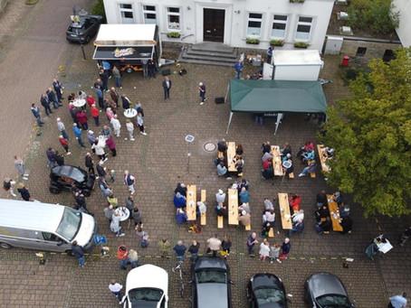 Abschlussveranstaltung unseres Wahlkampfs auf dem Rathausplatz