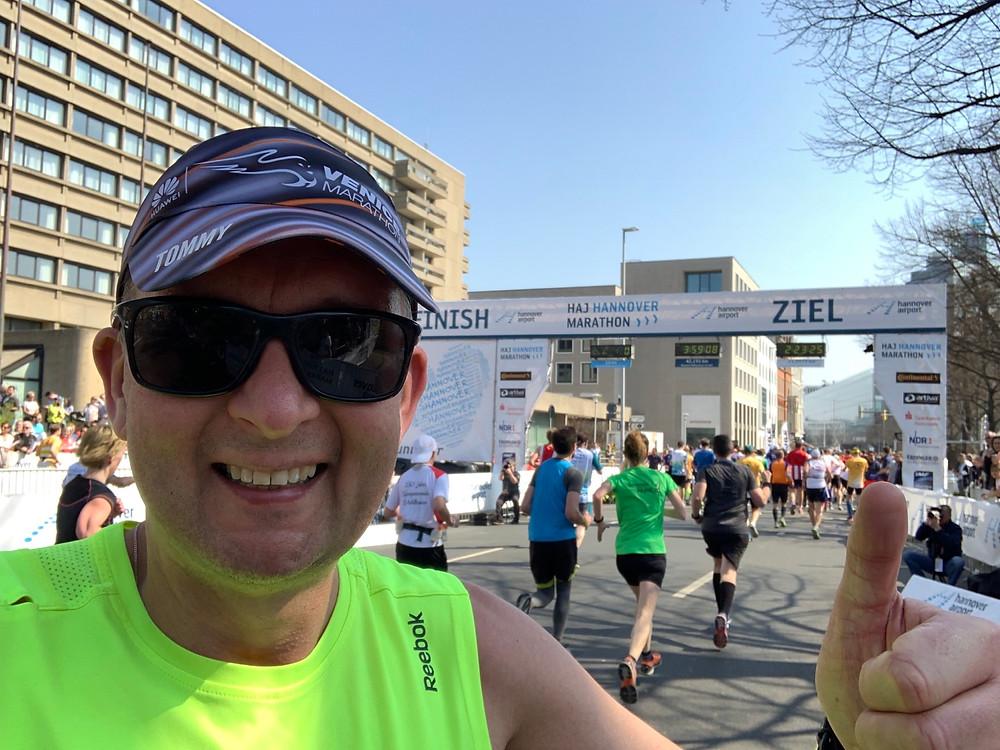 Tommy bei 42,175 km