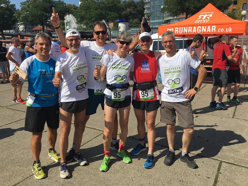 Team Lauftreff Braunschweig vor dem Start
