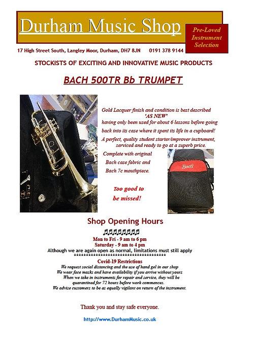 BACH 500TR Bb Trumpet - Lacquer