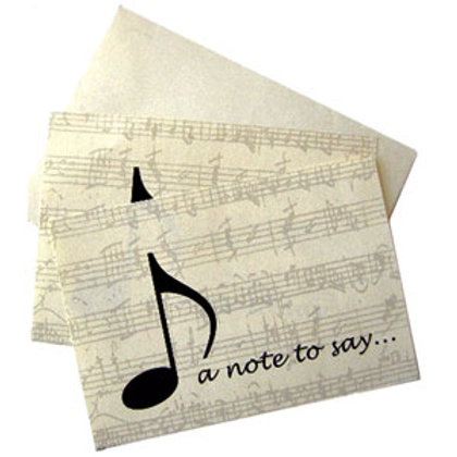 A Note To Say