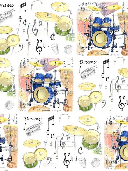 Wrapping Paper- Drums
