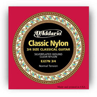 D'Addario Classical Guitar Set Nylon 3/4
