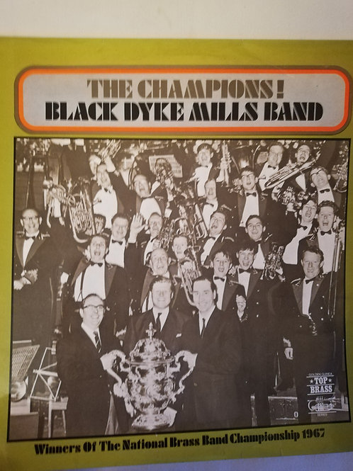 The Champions!  Black Dyke Band  Vinyl Clock