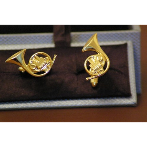 Cuff links - French Horn