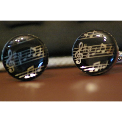 Cuff links - Musical Notes