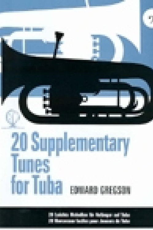 20 Supplementary Tunes for Tuba Gregson Bass Clef