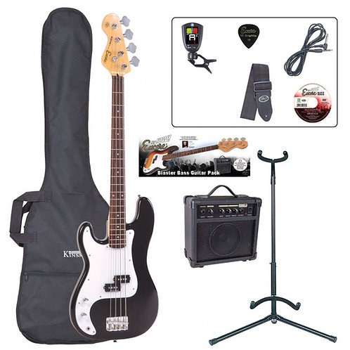 Encore E4 Left Handed Bass Guitar Pack