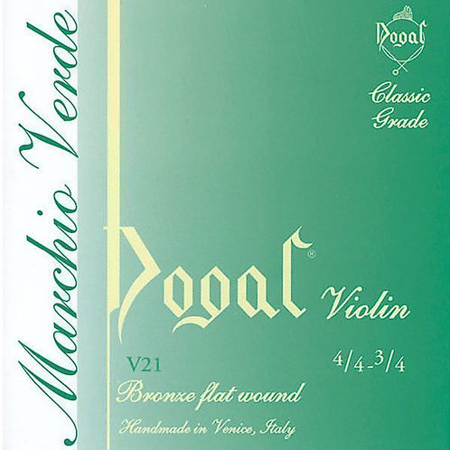 Violin String Set, 4/4, Dogal green tag