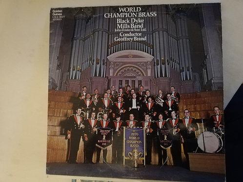 World Champion Brass  Black Dyke   Vinyl Clock