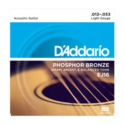 D'Addario Phosphor Bronze EJ16 Acoutic, .012-.053 Light