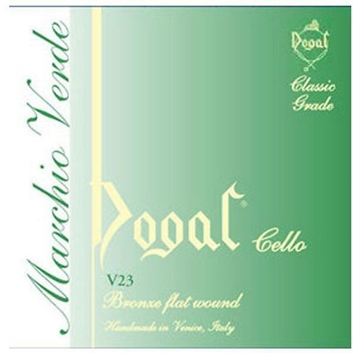 1/2 Cello Dogal Green tag D string