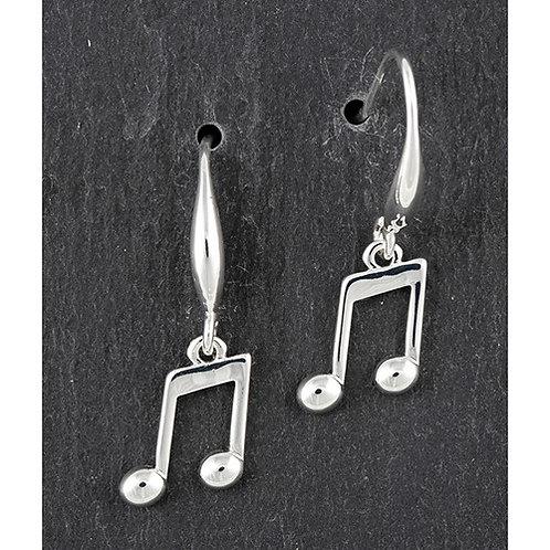 Quaver drop earrings