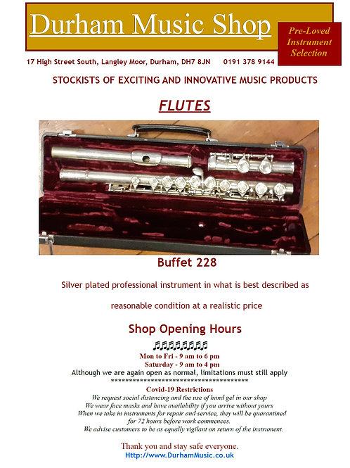 Buffet 228 Flute in Case