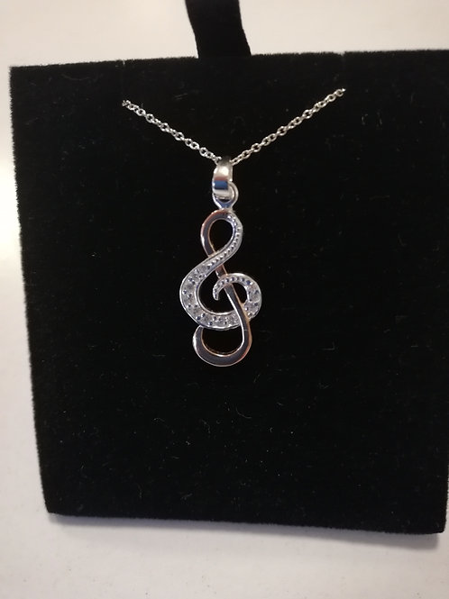 Pendant Clef with Sterling Silver & Rose Gold