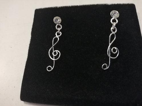 Earrings SilverTreble Clefs