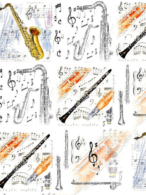 Wrapping Paper - Sax & Clarinet