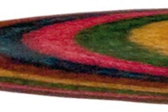 King David Baton 16, White Lacquer Taper/Rainbow