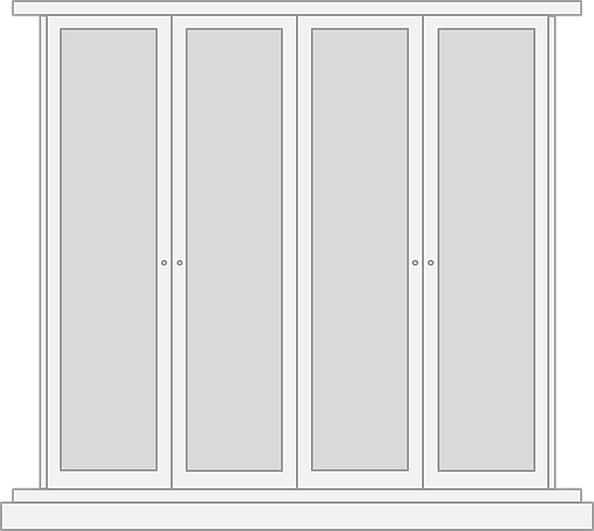 Built in wardrobe door design
