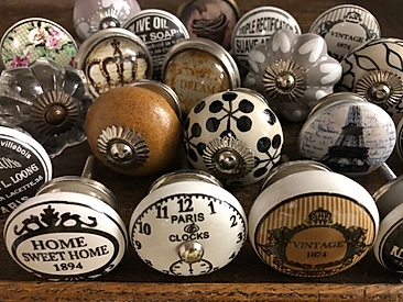 Vintage knobs for fitted Wardrobes