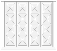 Chelsea style door for built in wardrobe
