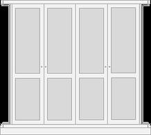 Shaker style door for fited wardrobe dooor