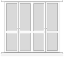 Shaker style door for fited wardrobe dooor