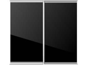 Floor to ceiling sliding mirrored door