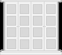 London shaker style door for built inwardrobe