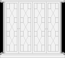 Regency style door for fitted wardrobe
