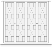Regency style door for fitted wardrobe