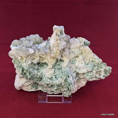 Apophylite, Stilbite & Green Heulandite