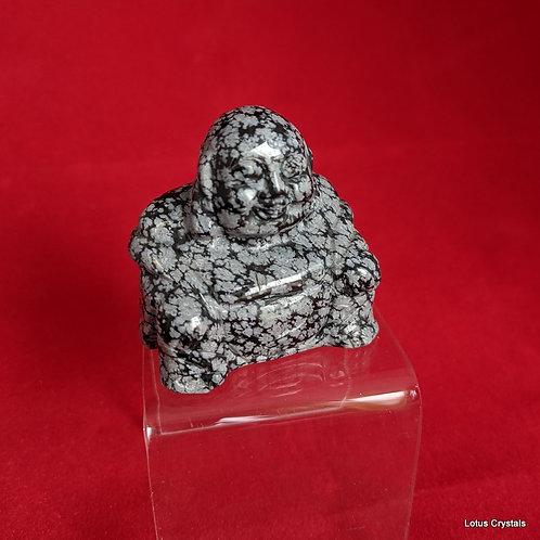 Snowflake Obsidian Buddha