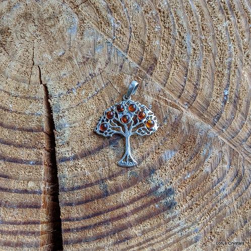 Tree of Life Amber Pendant