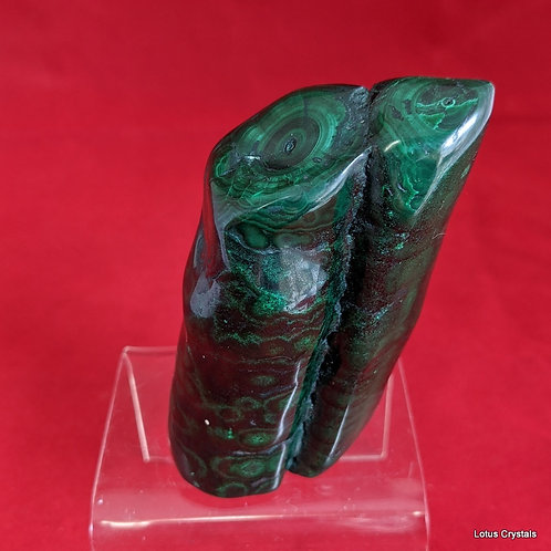 Polished Malachite Stalactite