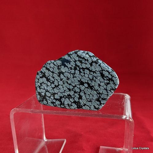 Snowflake Obsidian Slice