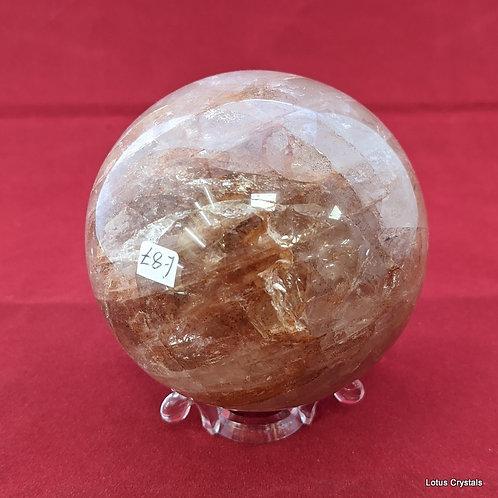 Hematoid Quartz Sphere