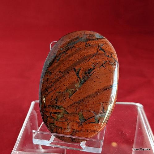 Brecciated Red Jasper Palm Stone