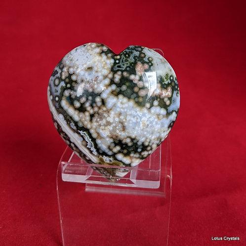 Orbicular Jasper Heart