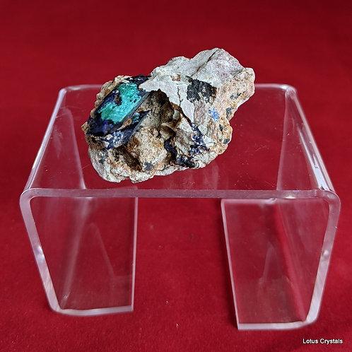 Azurite & Malachite Crystal in Matrix