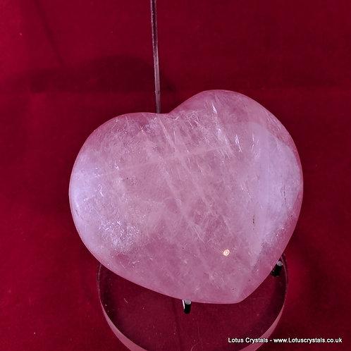 Madagascan Rose Quartz Heart