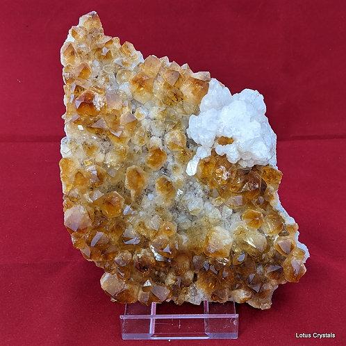 Citrine & Calcite Cluster