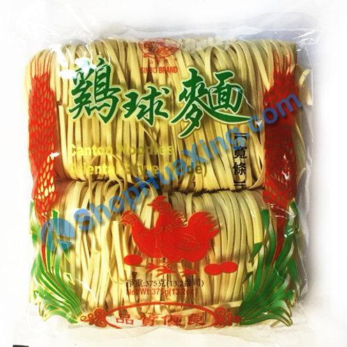 03 Sinbo Canton Noodles (Wide) 仙宝 鸡球面 宽条 375g
