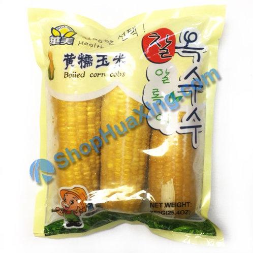 05 Boiled Corn Cobs 华美黄糯玉米 720g
