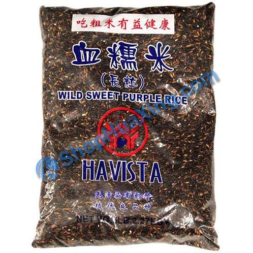 04 Havista Wild Sweet Purple Rice 五谷丰 血糯米 5LB