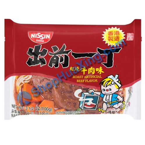 03 Nissin Roast Artificial Beef Flv Instant Noodle 出前一丁面 红烧牛肉味 100g
