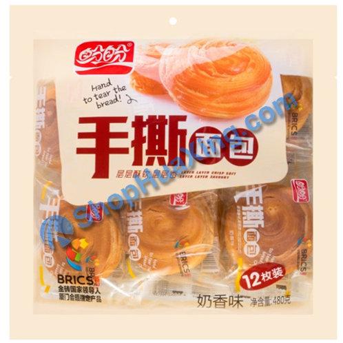 07 Hand to Tear Bread  盼盼 手撕面包 奶香味 12枚装 480g