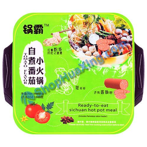 03 Ready-to-eat SiChuan Hot Pot Meal Tomato Flv. 锅霸 自煮番茄小火锅 红薯粉条 555g