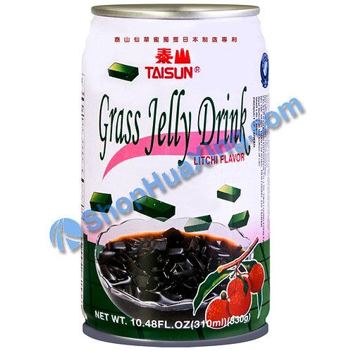 04 Taisun Grass Jelly Drink Lychee Flv. 泰山仙草蜜 荔枝味 310ml