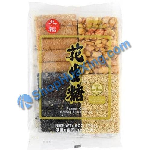 07 Mixed Peanut and Sesame Cake 九福 花生糖什锦 170g